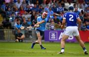 7 July 2019; Danny Sutcliffe of Dublin takes a shot at goal despite the efforts of Lee Cleere of Laois during the GAA Hurling All-Ireland Senior Championship preliminary round quarter-final match between Laois and Dublin at O'Moore Park in Portlaoise, Laois. Photo by Sam Barnes/Sportsfile