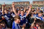 7 July 2019; Laois players, including Ross King, centre, celebrate following the GAA Hurling All-Ireland Senior Championship preliminary round quarter-final match between Laois and Dublin at O'Moore Park in Portlaoise, Laois. Photo by Sam Barnes/Sportsfile