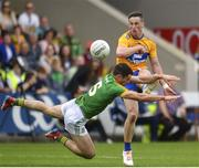 7 July 2019; Eoin Cleary of Clare in action against Donal Keogan of Meath during the GAA Football All-Ireland Senior Championship Round 4 match between Meath and Clare at O'Moore Park in Portlaoise, Laois. Photo by Sam Barnes/Sportsfile