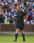 7 July 2019; Referee Alan Kelly during the GAA Hurling All-Ireland Senior Championship preliminary round quarter-final match between Laois and Dublin at O'Moore Park in Portlaoise, Laois. Photo by Sam Barnes/Sportsfile