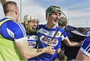 7 July 2019; Aaron Dunphy, right, and Joe Phelan of Laois, celebrate following the GAA Hurling All-Ireland Senior Championship preliminary round quarter-final match between Laois and Dublin at O'Moore Park in Portlaoise, Laois. Photo by Sam Barnes/Sportsfile
