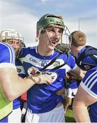 7 July 2019; Aaron Dunphy of Laois celebrates following the GAA Hurling All-Ireland Senior Championship preliminary round quarter-final match between Laois and Dublin at O'Moore Park in Portlaoise, Laois. Photo by Sam Barnes/Sportsfile