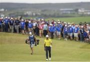 7 July 2019; Rafa Cabrera Bello of Spain walks up the 18th fairway on day four of the 2019 Dubai Duty Free Irish Open at Lahinch Golf Club in Lahinch, Clare. Photo by Ramsey Cardy/Sportsfile