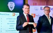 8 July 2019; Republic of Ireland U21 Manager Stephen Kenny draws Bohemians during the Extra.ie FAI Cup First Round Draw at Aviva Stadium in Dublin. Photo by Sam Barnes/Sportsfile