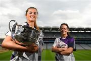 9 July 2019; #FollowOurJourney: The journey to Croke Park for the participating contenders in the 2019 TG4 Ladies Football Championships begins on Saturday, 13 July. Senior Champions Dublin will feature on a LIVE TG4 double-bill when they take on Munster runners-up Waterford, while Connacht Champions Galway are up against Kerry. 17 Championship games will be broadcast exclusively on TG4 throughout the summer, with the Senior and Intermediate championships to be played once again on a round-robin basis. You can follow the journey of all 32 teams involved in the Senior, Intermediate and Junior Championships, as they aim to make it Croke Park for TG4 All-Ireland Finals Sunday on 15 September. A number of top inter-county stars travelled to the spectacular Ballynahinch Castle Hotel in county Galway to mark the beginning of the TG4 All-Ireland series. Pictured are Aimee Mackin of Armagh and Sinead Greene of Cavan  with the Brendan Martin Cup at the launch at Croke Park in Dublin. #ProperFan. Photo by Eóin Noonan/Sportsfile