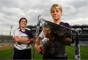 9 July 2019; #FollowOurJourney: The journey to Croke Park for the participating contenders in the 2019 TG4 Ladies Football Championships begins on Saturday, 13 July. Senior Champions Dublin will feature on a LIVE TG4 double-bill when they take on Munster runners-up Waterford, while Connacht Champions Galway are up against Kerry. 17 Championship games will be broadcast exclusively on TG4 throughout the summer, with the Senior and Intermediate championships to be played once again on a round-robin basis. You can follow the journey of all 32 teams involved in the Senior, Intermediate and Junior Championships, as they aim to make it Croke Park for TG4 All-Ireland Finals Sunday on 15 September. A number of top inter-county stars travelled to the spectacular Ballynahinch Castle Hotel in county Galway to mark the beginning of the TG4 All-Ireland series. Pictured are Samantha Lambert of Tipperary and Shauna Ennis of Meath with the Mary Quinn Memorial Cup at the launch at Croke Park in Dublin. #ProperFan. Photo by Eóin Noonan/Sportsfile