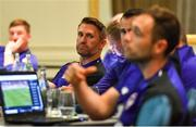 9 July 2019; Robbie Keane, UEFA Pro Licence student, during a UEFA Pro Licence Course at Johnstown House in Enfield, Meath. Photo by Piaras Ó Mídheach/Sportsfile