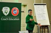 9 July 2019; Michael Looby, FAI, during a UEFA Pro Licence Course at Johnstown House in Enfield, Meath. Photo by Piaras Ó Mídheach/Sportsfile