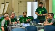 9 July 2019; Craig Sexton, FAI, speaking during a UEFA Pro Licence Course at Johnstown House in Enfield, Meath. Photo by Piaras Ó Mídheach/Sportsfile