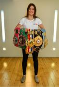 9 July 2019; Undisputed World Lightweight Champion Katie Taylor in attendance at an exclusive Sky VIP event at The Lighthouse Cinema, Smithfield in Dublin. Sky customers can join Sky VIP for free by downloading the My Sky app where they can enjoy money-can't-buy experiences and more. Photo by Sam Barnes/Sportsfile