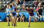 9 July 2019; Ross McGarry of Dublin in action against Ciaran Kavanagh of Wexford during the EirGrid Leinster GAA Football U20 Championship semi-final match between Dublin and Wexford at Parnell Park in Dublin. Photo by Eóin Noonan/Sportsfile