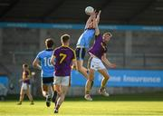 9 July 2019; James Doran of Dublin in action against Adam Hogan of Wexford during the EirGrid Leinster GAA Football U20 Championship semi-final match between Dublin and Wexford at Parnell Park in Dublin. Photo by Eóin Noonan/Sportsfile