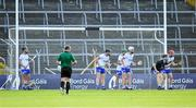 9 July 2019; Waterford players await a Tipperary free during the Bord Gáis Energy Munster GAA Hurling Under 20 Championship Semi-Final match between Tipperary and Waterford at Semple Stadium in Thurles, Tipperary. Photo by Piaras Ó Mídheach/Sportsfile