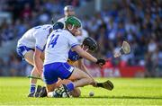9 July 2019; Conor McCarthy of Tipperary in action against Oisín Ó Ceallaigh, left, and Michael Kiely of Waterford during the Bord Gáis Energy Munster GAA Hurling Under 20 Championship Semi-Final match between Tipperary and Waterford at Semple Stadium in Thurles, Tipperary. Photo by Piaras Ó Mídheach/Sportsfile