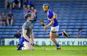 9 July 2019; Conor Bowe of Tipperary after scoring his side's second goal past Waterford goalkeeper Dean Beecher during the Bord Gáis Energy Munster GAA Hurling Under 20 Championship Semi-Final match between Tipperary and Waterford at Semple Stadium in Thurles, Tipperary. Photo by Piaras Ó Mídheach/Sportsfile