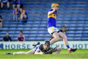 9 July 2019; Conor Bowe of Tipperary celebrates scoring his side's second goal as Waterford goalkeeper Dean Beecher looks on during the Bord Gáis Energy Munster GAA Hurling Under 20 Championship Semi-Final match between Tipperary and Waterford at Semple Stadium in Thurles, Tipperary. Photo by Piaras Ó Mídheach/Sportsfile