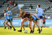 9 July 2019; Sean Farrelly of Dublin in action against Ben Maddock of Wexford during the EirGrid Leinster GAA Football U20 Championship semi-final match between Dublin and Wexford at Parnell Park in Dublin. Photo by Eóin Noonan/Sportsfile