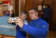 10 July 2019; Leinster player Scott Penny with participants during the Bank of Ireland Leinster Rugby Summer Camp at Mullingar RFC in Mullingar, Westmeath. Photo by Eóin Noonan/Sportsfile