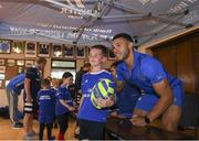 10 July 2019; Leinster player Adam Byrne with participants during the Bank of Ireland Leinster Rugby Summer Camp at Mullingar RFC in Mullingar, Westmeath. Photo by Eóin Noonan/Sportsfile