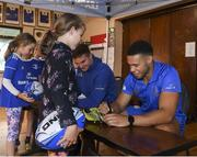 10 July 2019; Leinster players Adam Byrne and Scott Penny with participants during the Bank of Ireland Leinster Rugby Summer Camp at Mullingar RFC in Mullingar, Westmeath. Photo by Eóin Noonan/Sportsfile