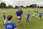 10 July 2019; Leinster player Ronan Kelleher with participants during the Bank of Ireland Leinster Rugby Summer Camp at Greystones RFC in Greysrones, Wicklow.
