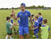 10 July 2019; Leinster player Jamison Gibson Park with participants during the Bank of Ireland Leinster Rugby Summer Camp at Greystones RFC in Greysrones, Wicklow.