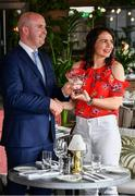10 July 2019; Geraldine McLaughlin of Donegal is presented with The Croke Park / LGFA Player of the Month award for June by Alan Smullen, General Manager, The Croke Park, at The Croke Park in Jones Road, Dublin. Geraldine was outstanding for Donegal in their march to a third successive TG4 Ulster Senior Championship title. En route to the provincial crown, the Termon player scored 2-4 against Tyrone, 0-14 in the semi-final victory over Cavan, and 2-4 in the Final win against Armagh. Photo by Ray McManus/Sportsfile