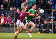 10 July 2019; Paddy Goldrick of Mayo in action against Jack Kirrane of Galway during the EirGrid Connacht GAA Football U20 Championship final match between Galway and Mayo at Tuam, Co. Galway. Photo by Sam Barnes/Sportsfile