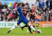 10 July 2019; Conor Gallagher of Chelsea in action against Robbie McCourt of Bohemians during a friendly match between Bohemians and Chelsea at Dalymount Park in Dublin. Photo by Ramsey Cardy/Sportsfile