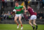 10 July 2019; Eoghan McLaughlin of Mayo in action against Liam Boyle of Galway during the EirGrid Connacht GAA Football U20 Championship final match between Galway and Mayo at Tuam, Co. Galway. Photo by Sam Barnes/Sportsfile