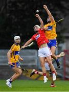 10 July 2019; Tommy O'Connell of Cork in action against Dylan McMahon? of Clare during the Bord Gais Energy Munster GAA Hurling Under 20 Championship semi-final match between Cork and Clare at Páirc Ui Rinn in Cork. Photo by Brendan Moran/Sportsfile