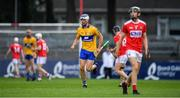 10 July 2019; Diarmuid Ryan of Clare celebrates scoring a point during the Bord Gais Energy Munster GAA Hurling Under 20 Championship semi-final match between Cork and Clare at Páirc Ui Rinn in Cork. Photo by Brendan Moran/Sportsfile