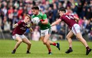 10 July 2019; Evan O'Brien of Mayo in action against Liam Costello, left, and Padraig Costello of Galway during the EirGrid Connacht GAA Football U20 Championship final match between Galway and Mayo at Tuam, Co. Galway. Photo by Sam Barnes/Sportsfile