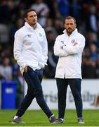 10 July 2019; Chelsea manager Frank Lampard, left, and assistant coach Jody Morris during a friendly match between Bohemians and Chelsea at Dalymount Park in Dublin. Photo by Ramsey Cardy/Sportsfile