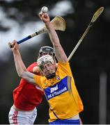 10 July 2019; Aidan Moriarty of Clare in action against Robert Downey of Cork during the Bord Gais Energy Munster GAA Hurling Under 20 Championship semi-final match between Cork and Clare at Páirc Ui Rinn in Cork. Photo by Brendan Moran/Sportsfile