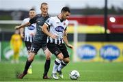 10 July 2019; Patrick Hoban of Dundalk in action against  during the UEFA Champions League First Qualifying Round 1st Leg match between Dundalk and Riga at Oriel Park in Dundalk, Co Louth. Photo by Eóin Noonan/Sportsfile
