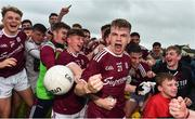 10 July 2019; Galway players including Liam Costello, centre, celebrate with supporters following the EirGrid Connacht GAA Football U20 Championship final match between Galway and Mayo at Tuam, Co. Galway. Photo by Sam Barnes/Sportsfile