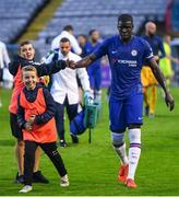 10 July 2019; Kurt Zouma of Chelsea with ballboys following a friendly match between Bohemians and Chelsea at Dalymount Park in Dublin. Photo by Ramsey Cardy/Sportsfile