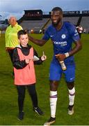 10 July 2019; Tiemoue Bakayoko of Chelsea signs an autograph for a ballboy following a friendly match between Bohemians and Chelsea at Dalymount Park in Dublin. Photo by Ramsey Cardy/Sportsfile