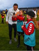 10 July 2019; Chelsea manager Frank Lampard with ballkids following a friendly match between Bohemians and Chelsea at Dalymount Park in Dublin. Photo by Ramsey Cardy/Sportsfile