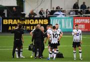 10 July 2019; Chris Shields of Dundalk receives medical attention during the UEFA Champions League First Qualifying Round 1st Leg match between Dundalk and Riga at Oriel Park in Dundalk, Co Louth. Photo by Eóin Noonan/Sportsfile