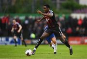 10 July 2019; Andre Wright of Bohemians during a friendly match between Bohemians and Chelsea at Dalymount Park in Dublin. Photo by Ramsey Cardy/Sportsfile