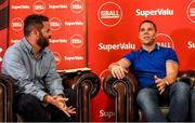12 July 2019; SuperValu, Ireland's largest grocery retailer with over 220 stores nationwide, teamed up with Ireland's leading sports broadcasters, Off The Ball, to bring their award-winning show on the road this summer, to celebrate SuperValu's 10th year as sponsor of the GAA Football All-Ireland Senior Championship. Joined by a host of special guests, the SuperValu Off The Ball roadshow took place in CLG Ghaoth Dobhair, last Wednesday 10th July. Pictured are Off The Ball presenter Nathan Murphy, left, with former Donegal footballer Kevin Cassidy. Photo by Oliver McVeigh/Sportsfile