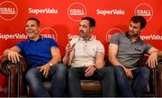 12 July 2019; SuperValu, Ireland's largest grocery retailer with over 220 stores nationwide, teamed up with Ireland's leading sports broadcasters, Off The Ball, to bring their award-winning show on the road this summer, to celebrate SuperValu's 10th year as sponsor of the GAA Football All-Ireland Senior Championship. Joined by a host of special guests, the SuperValu Off The Ball roadshow took place in CLG Ghaoth Dobhair, last Wednesday 10th July. Pictured are, from left to right, former Donegal footballers Kevin Cassidy, Brendan Devaney and Eamonn McGee. Photo by Oliver McVeigh/Sportsfile