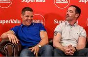 12 July 2019; SuperValu, Ireland's largest grocery retailer with over 220 stores nationwide, teamed up with Ireland's leading sports broadcasters, Off The Ball, to bring their award-winning show on the road this summer, to celebrate SuperValu's 10th year as sponsor of the GAA Football All-Ireland Senior Championship. Joined by a host of special guests, the SuperValu Off The Ball roadshow took place in CLG Ghaoth Dobhair, last Wednesday 10th July. Pictured are former Donegal footballers Kevin Cassidy, left, and Brendan Devaney. Photo by Oliver McVeigh/Sportsfile
