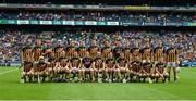 30 June 2019; The Kilkenny panel ahead of the Leinster GAA Hurling Senior Championship Final match between Kilkenny and Wexford at Croke Park in Dublin. Photo by Daire Brennan/Sportsfile