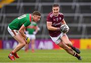 6 July 2019; Eamonn Brannigan of Galway in action against Fionn McDonagh of Mayo during the GAA Football All-Ireland Senior Championship Round 4 match between Galway and Mayo at the LIT Gaelic Grounds in Limerick. Photo by Brendan Moran/Sportsfile