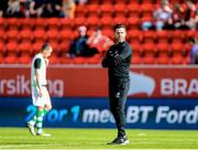 11 July 2019; Shamrock Rovers manager Stephen Bradley ahead of the the UEFA Europa League First Qualifying Round 1st Leg match between SK Brann and Shamrock Rovers at Brann Stadion, Bergen, Norway. Photo by Bjorn Erik Nesse/Sportsfile.