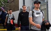 11 July 2019;  Jordan Larsson of IFK Norrköping arrives ahead of the UEFA Europa League First Qualifying Round 1st Leg match between St Patrick's Athletic and IFK Norrköping at Richmond Park in Inchicore, Dublin. Photo by Sam Barnes/Sportsfile