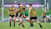 11 July 2019; Joseph O'Connor of Kerry in action against Jack Downey of Limerick during the EirGrid GAA Football Under 20 Munster Championship Semi-Final match between Kerry and Limerick at Austin Stack Park in Tralee, Kerry. Photo by Brendan Moran/Sportsfile